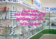 Danh sách nhà thuốc phân phối IgYGate DC-PG tại Đông Anh